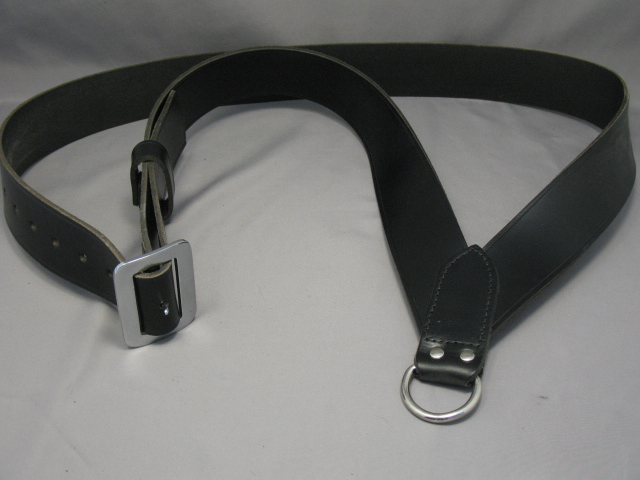 Drum Sling – 2″ Black Leather