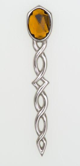Argyll Interlace with Stone Kilt Pin