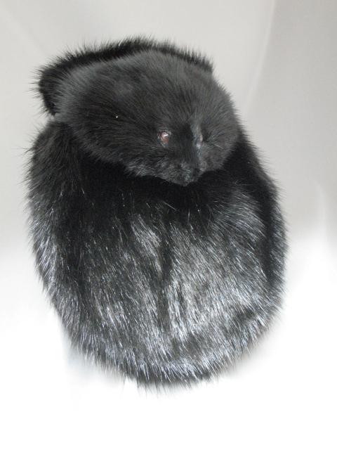 Black Muskrat Full Mask Sporran