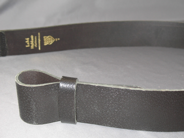 2 1/2″ Brown Leather Waist Belt(Pig Grain)