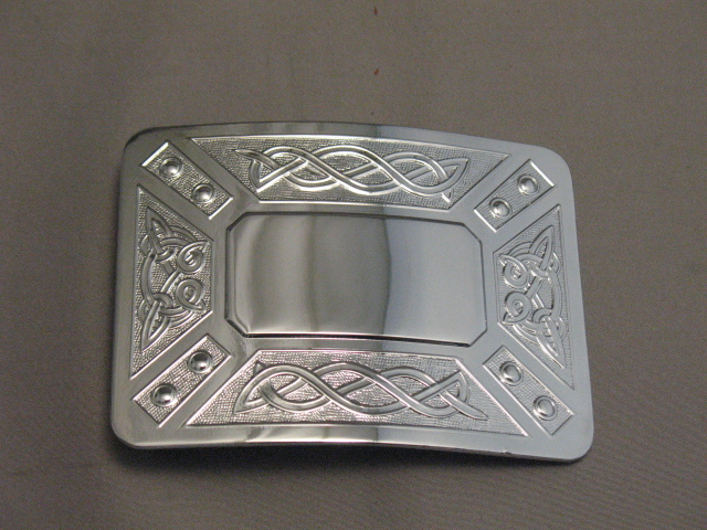 Chrome Scrollwork Buckle