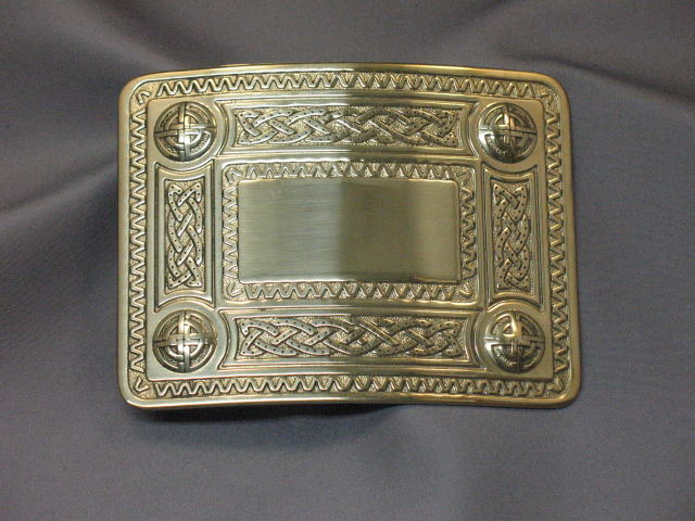 Celtic Style Brass Buckle