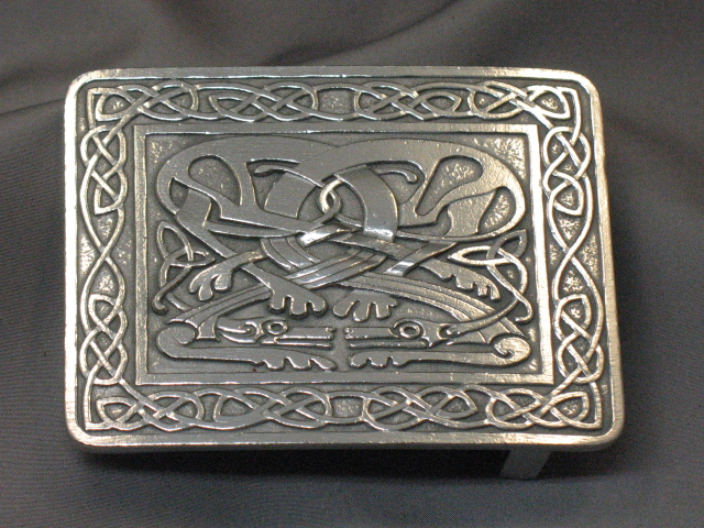 Pewter Zoomorphic Buckle