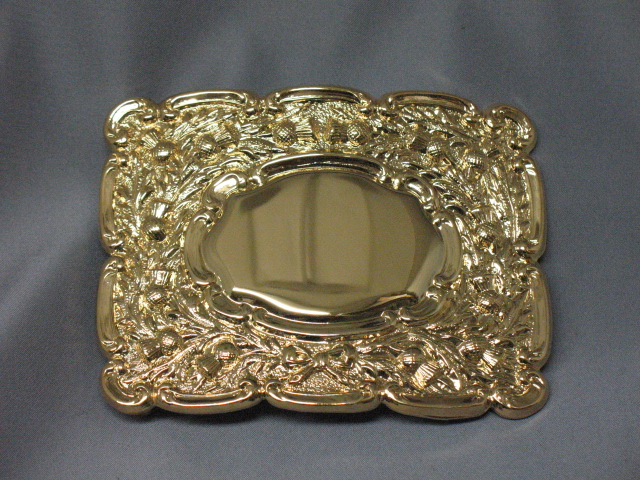 2 1/2″ Gilt Thistle Buckle