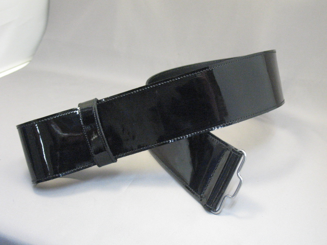 2 1/2″ Patent Leather Wasit Belt