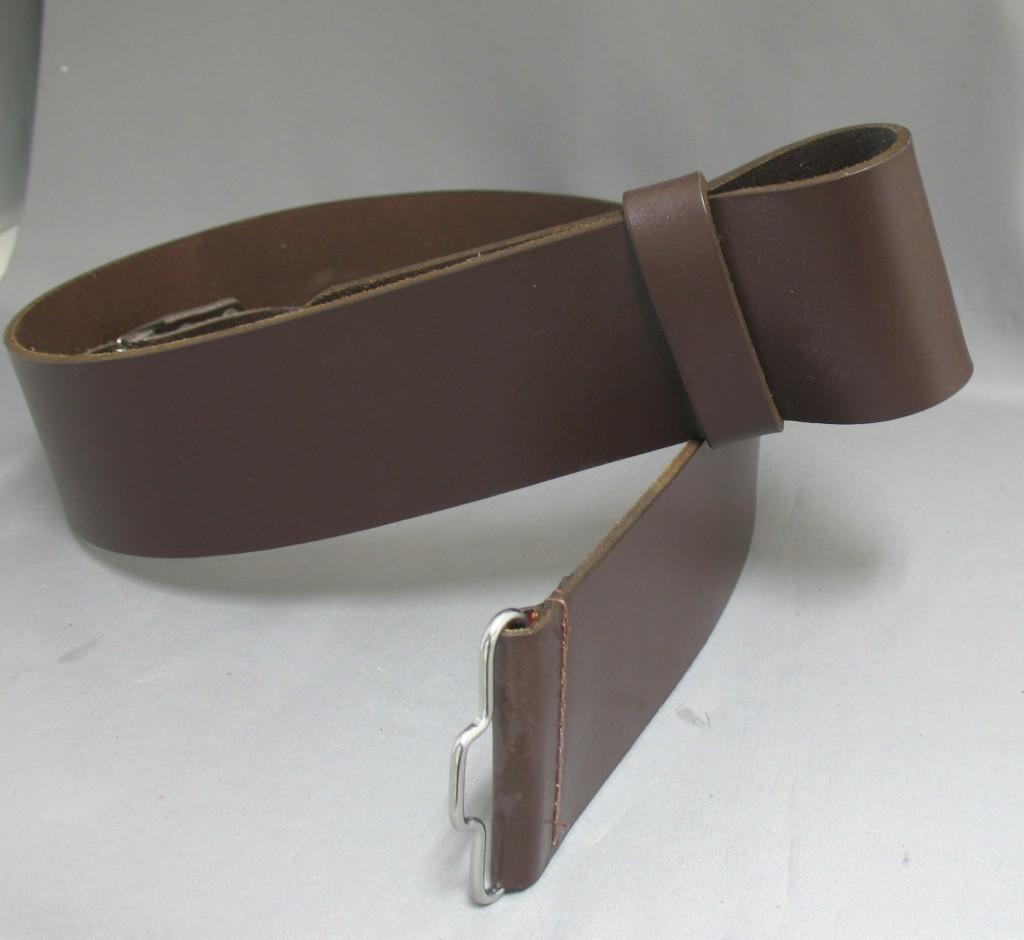 2 1/2″ Brown Leather Waist Belt(Smooth)