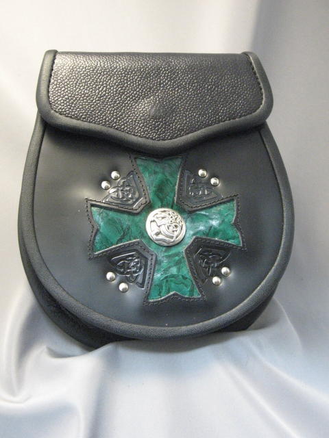 Maltese Cross – Green Inlay