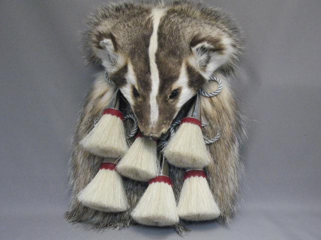 Badger Full Mask 6 Tassel Chrome Sporran