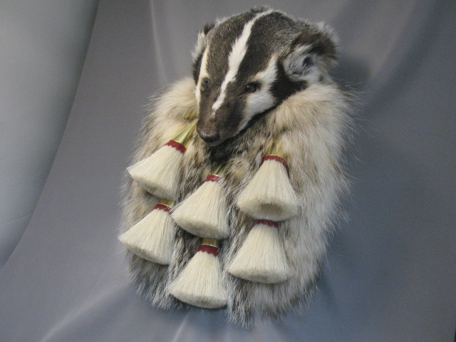 Badger Full Mask 6 Tassel Brass Sporran
