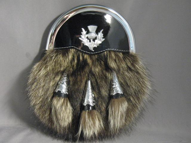 Raccoon/Thistle Dress Sporran