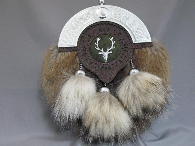 """""""The Vale""""/Fur Tassels Dress Sporran"""