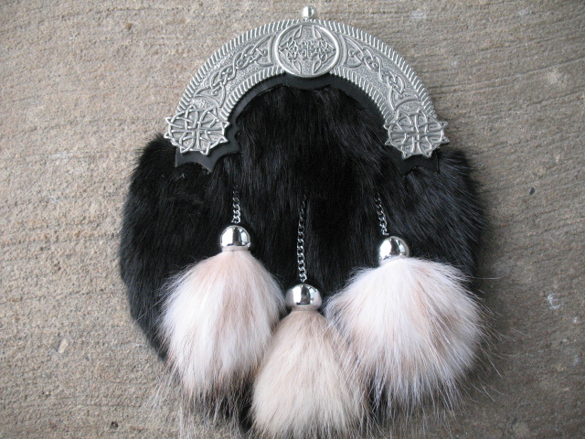 Black Muskrat/Pewter Dress Sporran