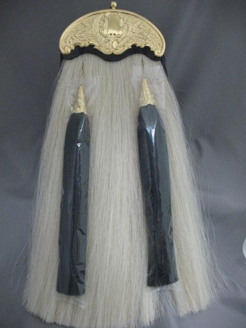 Gilt Thistle Cantle Horsehair Sporran