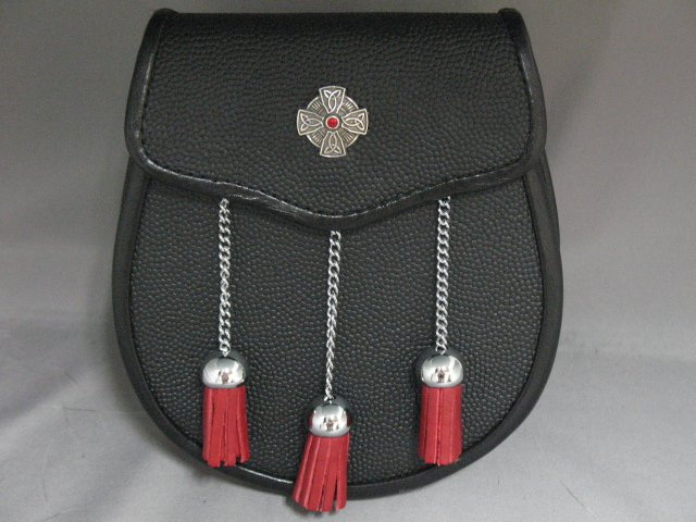 """The Celt"" Red Stone Leather Sporran"