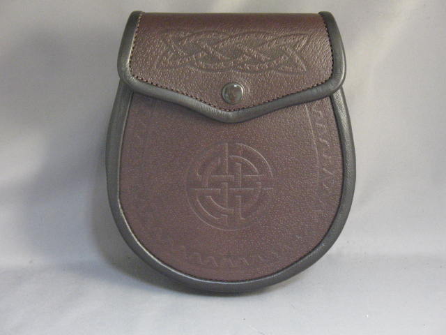 "Brown ""Angus"" Leather Sporran"