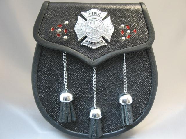 Firefighter Leather Sporran