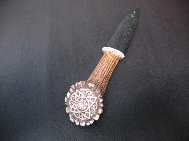 Celtic Pattern Stag Sgian Dubh