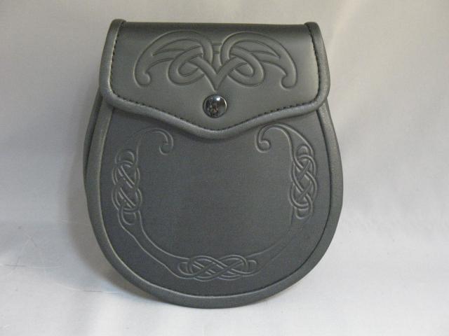 """Seamus"" Celtic Embossed Leather Sporran"
