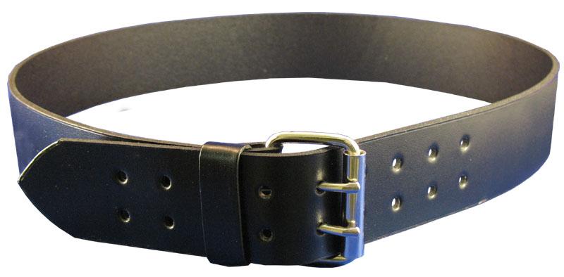 2″ Casual Black Leather Waist Belt