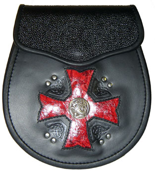 Maltese Cross – Red Inlay
