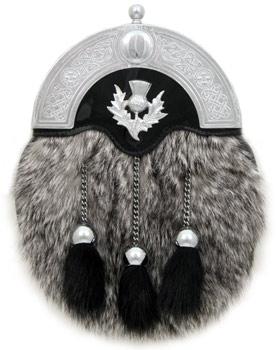 Grey Rabbit Dress Sporran