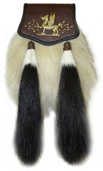 Welsh Yak Hair Sporran – Brown