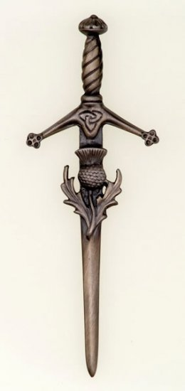 Antique Claidhmhor with Thistle Kilt Pin