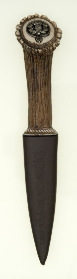 Stag with Thistle design Sgian Dubh